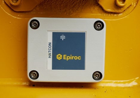 Epiroc HATCON Unit Fitted To A Hydraulic Breaker
